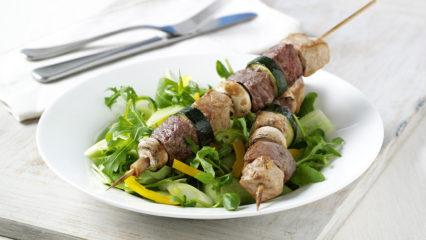 chicken beef kebab